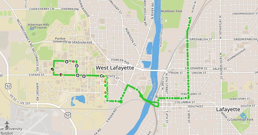 lafayette-city-bus-route