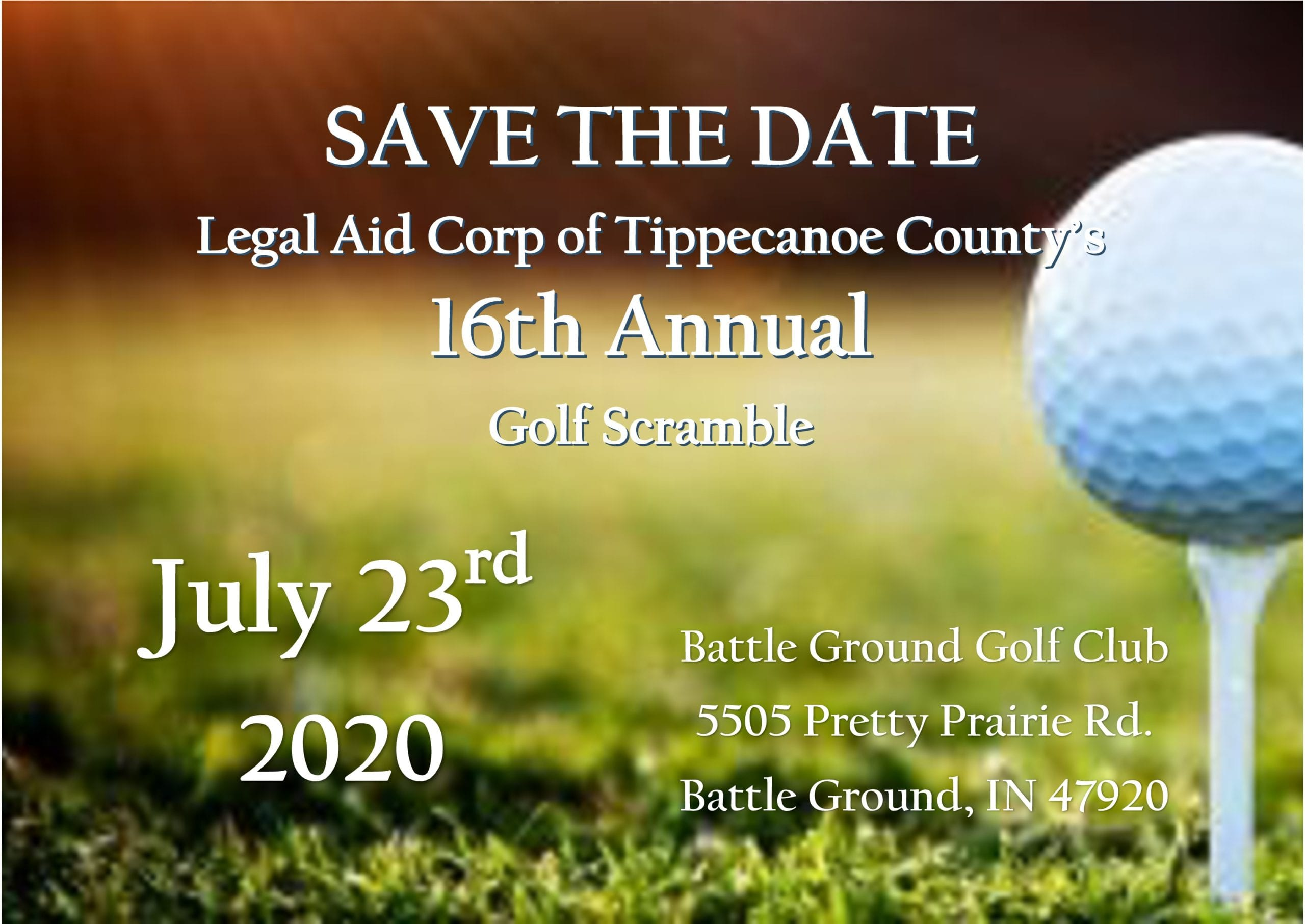 2020 Golf Scramble will be on July 23rd